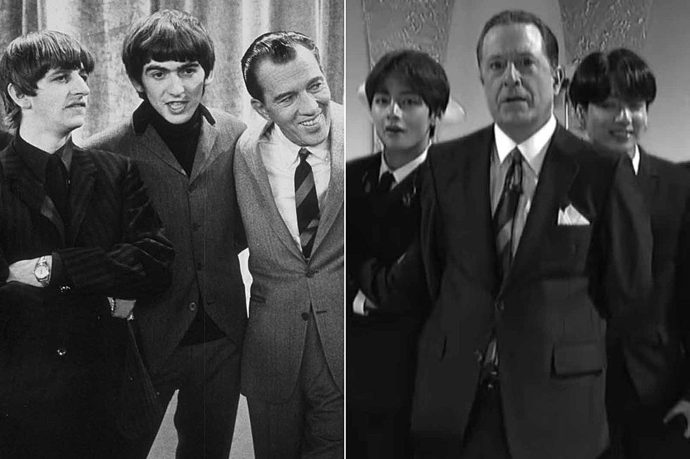 BTS Dress Up Like the Beatles on 'Late Show With Stephen