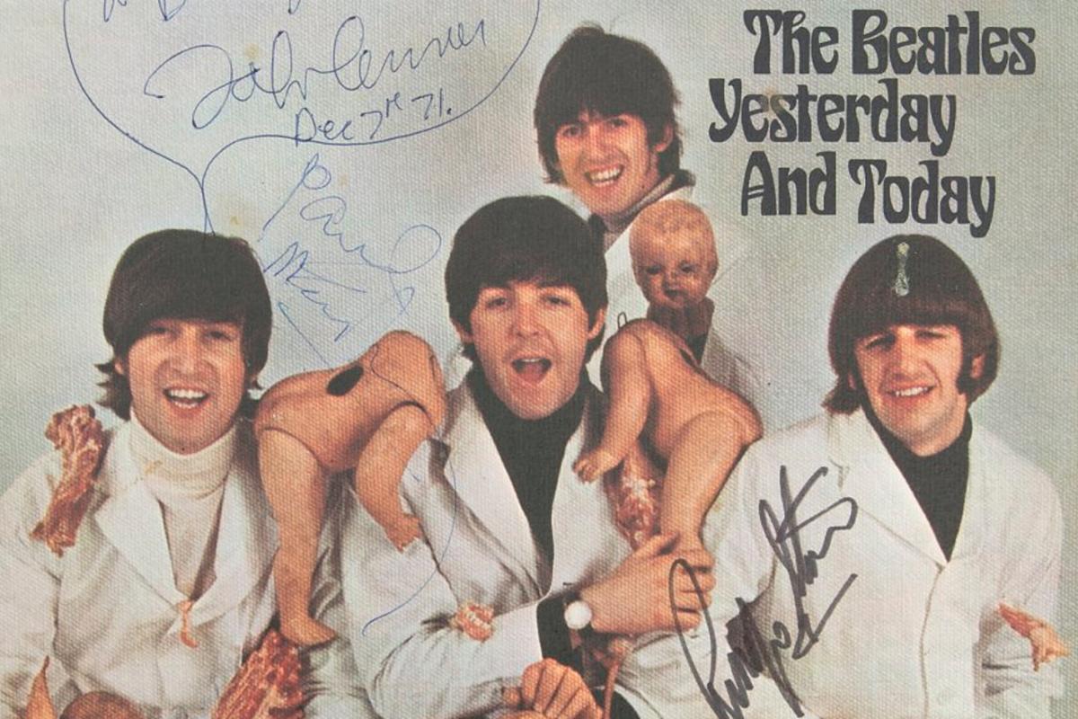 John Lennon S Copy Of Beatles Butcher Cover Sells For 234k