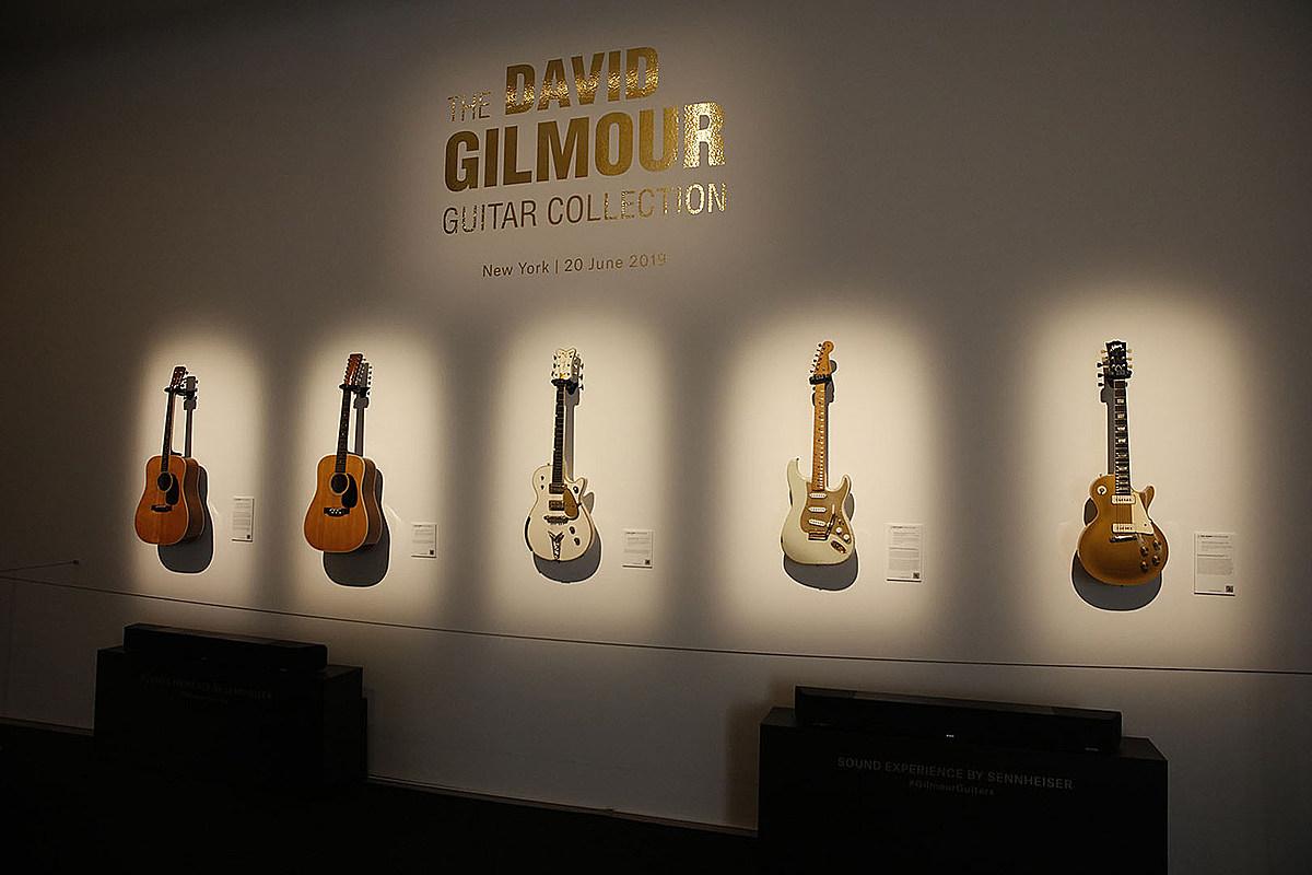 david gilmour 39 s guitar collection sells for 21 million. Black Bedroom Furniture Sets. Home Design Ideas