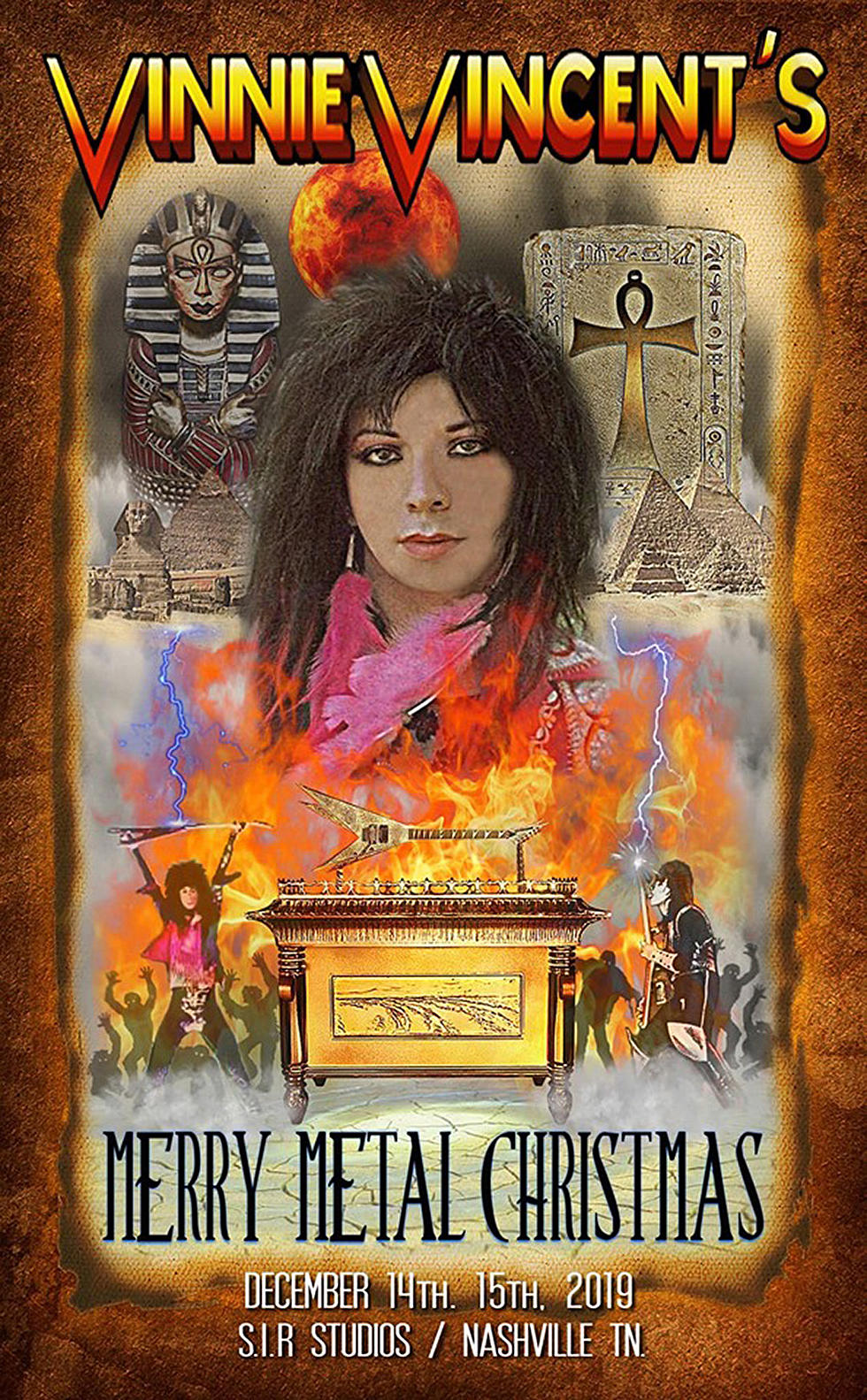 Vinnie Vincent Announces Merry Metal Christmas Event