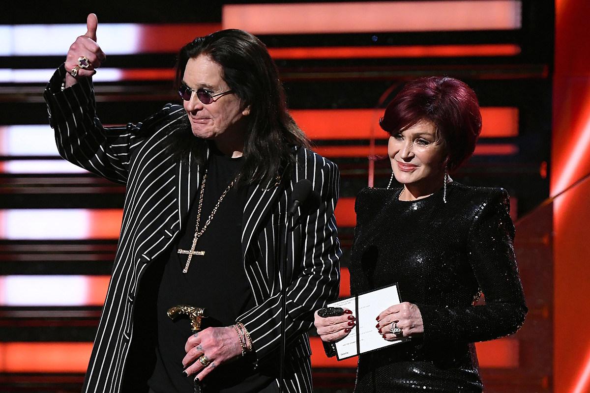 Ozzy Osbourne Presents Rap Award at the Grammys