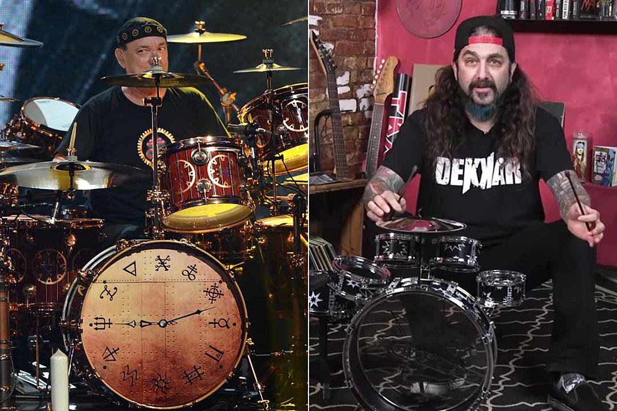 Watch Mike Portnoy Pay Tribute to Neil Peart on a Toy Drum Kit