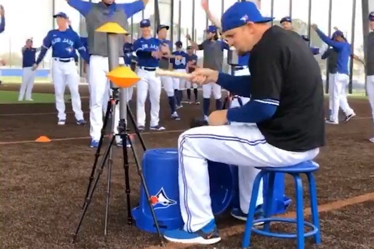 Watch Toronto Blue Jays Player Air Drum to Rush's Neil Peart