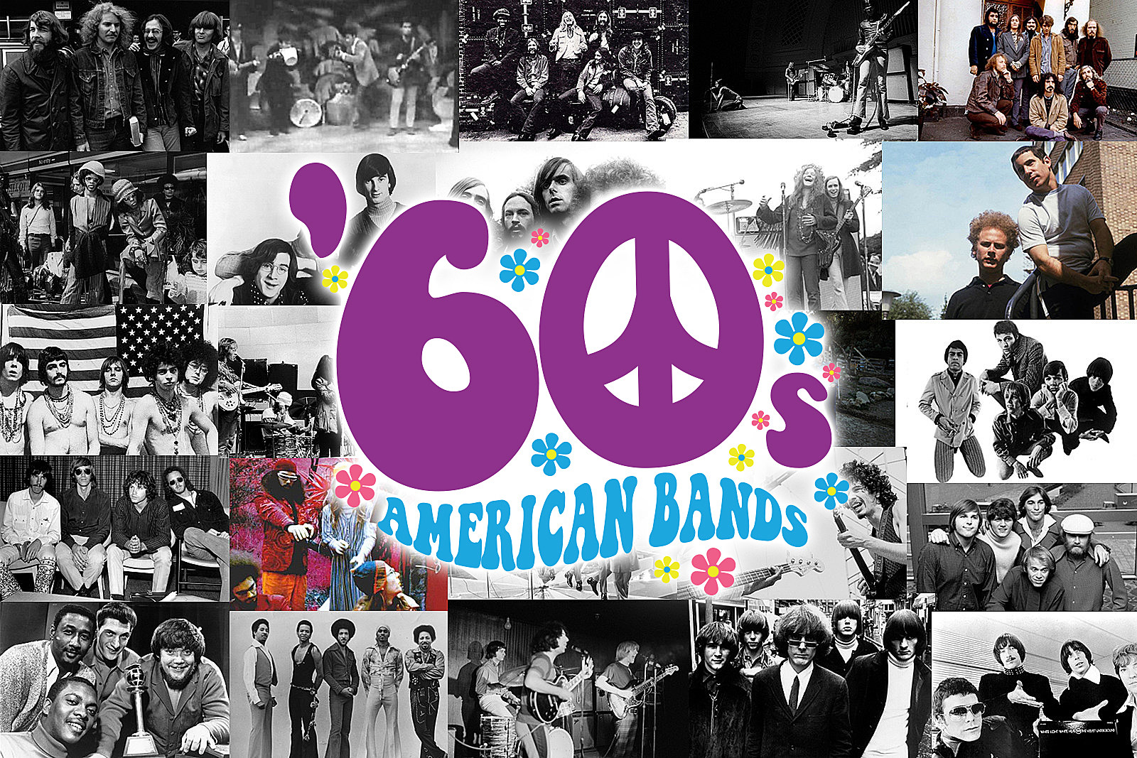 Top 25 American Classic Rock Bands of the '60s
