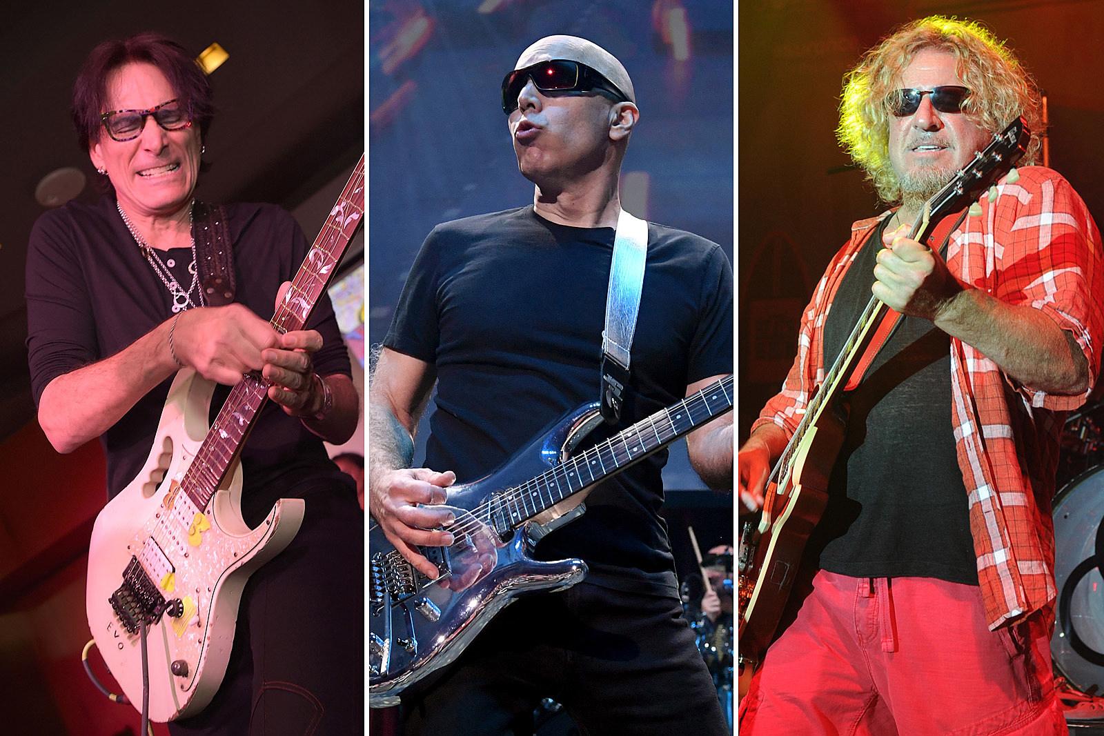 Watch Steve Vai, Sammy Hagar Jam to Joe Satriani Backing Tracks