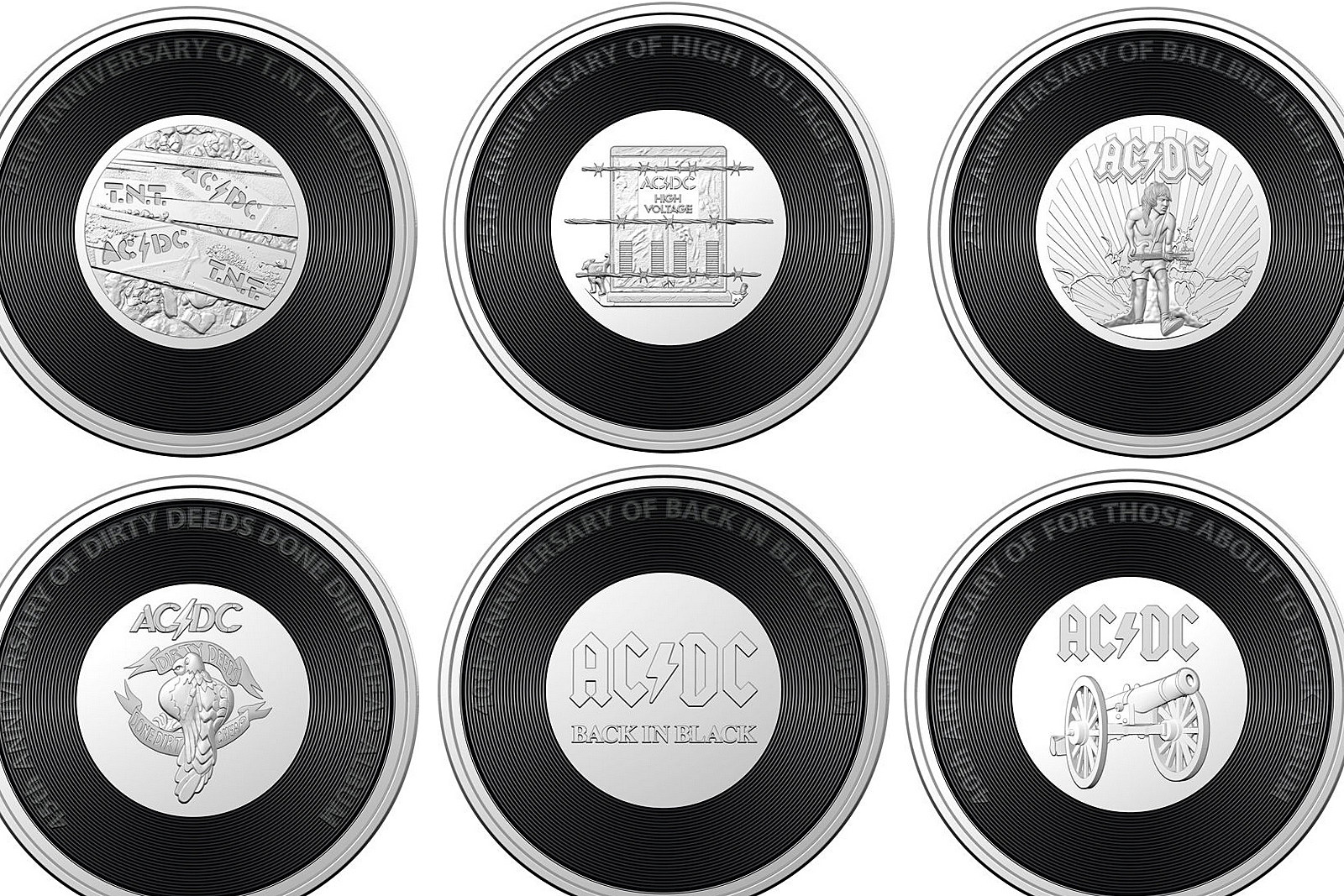Six Ac Dc Albums Commemorated With New Australian Coins
