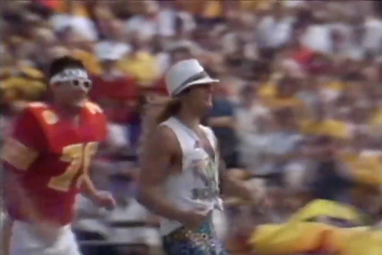 Watch David Lee Roth Invade a College Football Game in 1986