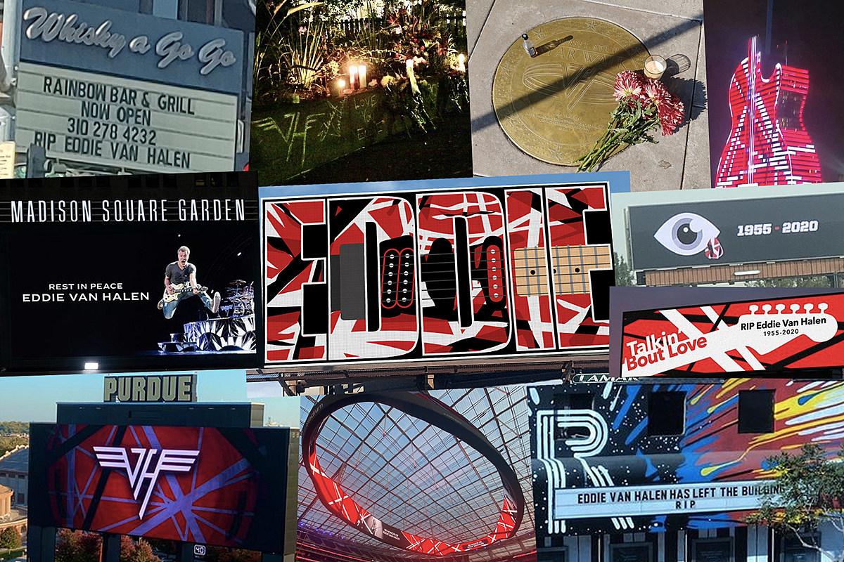 Eddie Van Halen Tributes Eddie Van Halen Tributes: Billboards, Marquees and Sidewalks
