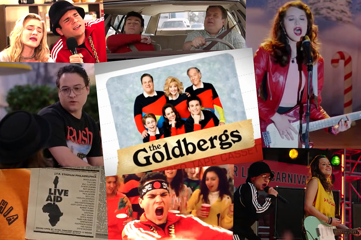 Goldbergs collage 'The Goldbergs'' Eight Greatest Classic-Rock Moments