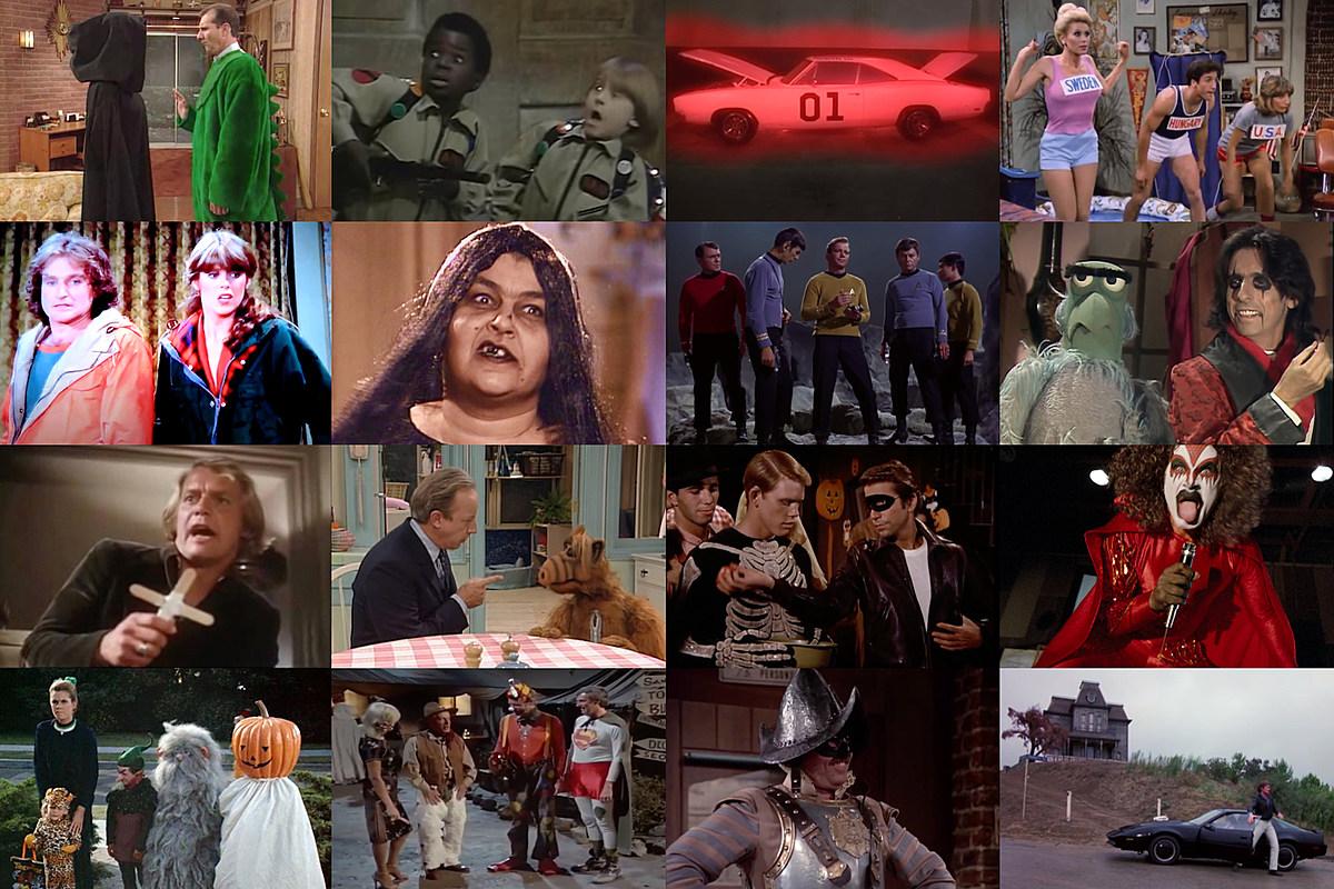 Halloween TV collage 28 Classic Halloween TV Episodes