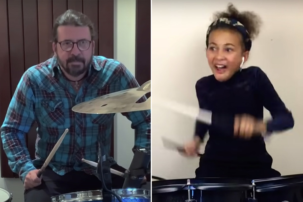 Dave Grohl's Drum Battle With 10-Year-Old Girl Led to LP Release - Ultimate Classic Rock