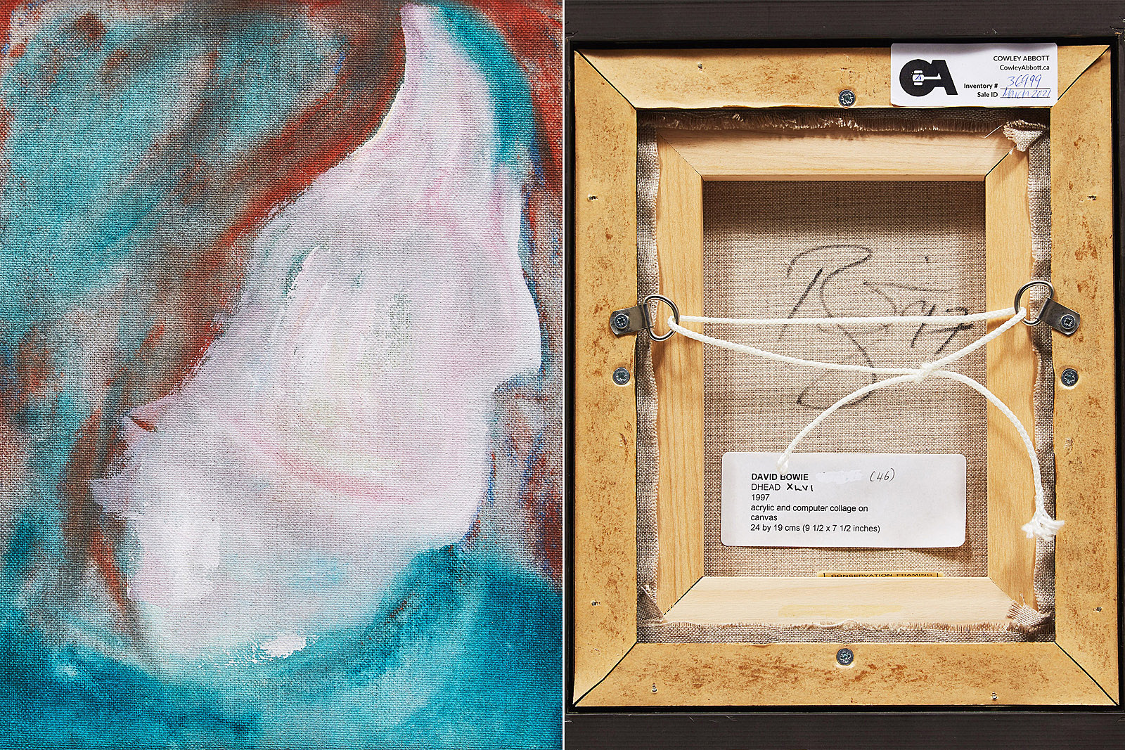 Rescued David Bowie Painting Will Sell for 10,000 Times its Price