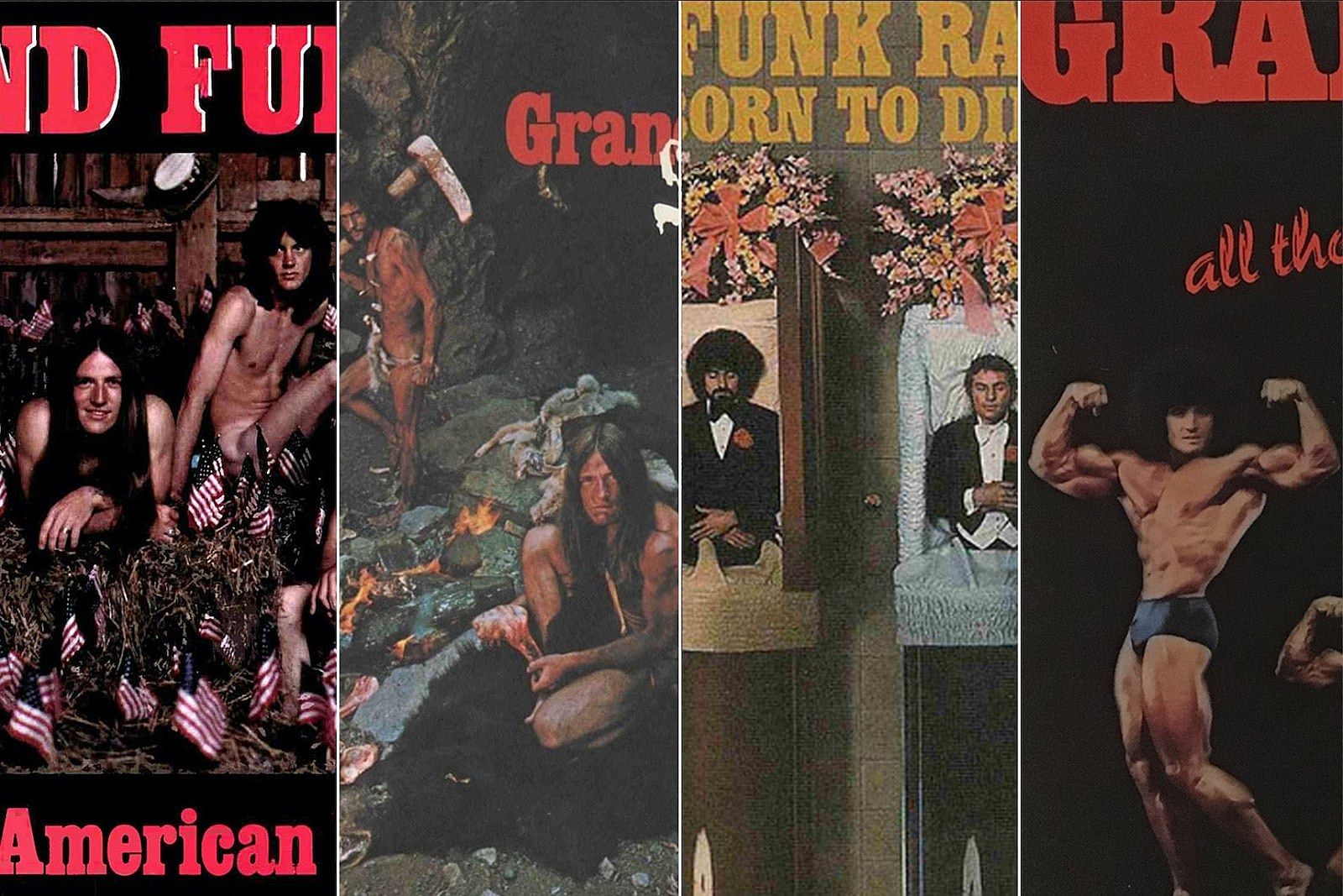 Grand Funk's Classic Album Covers: From Cavemen to Coffins