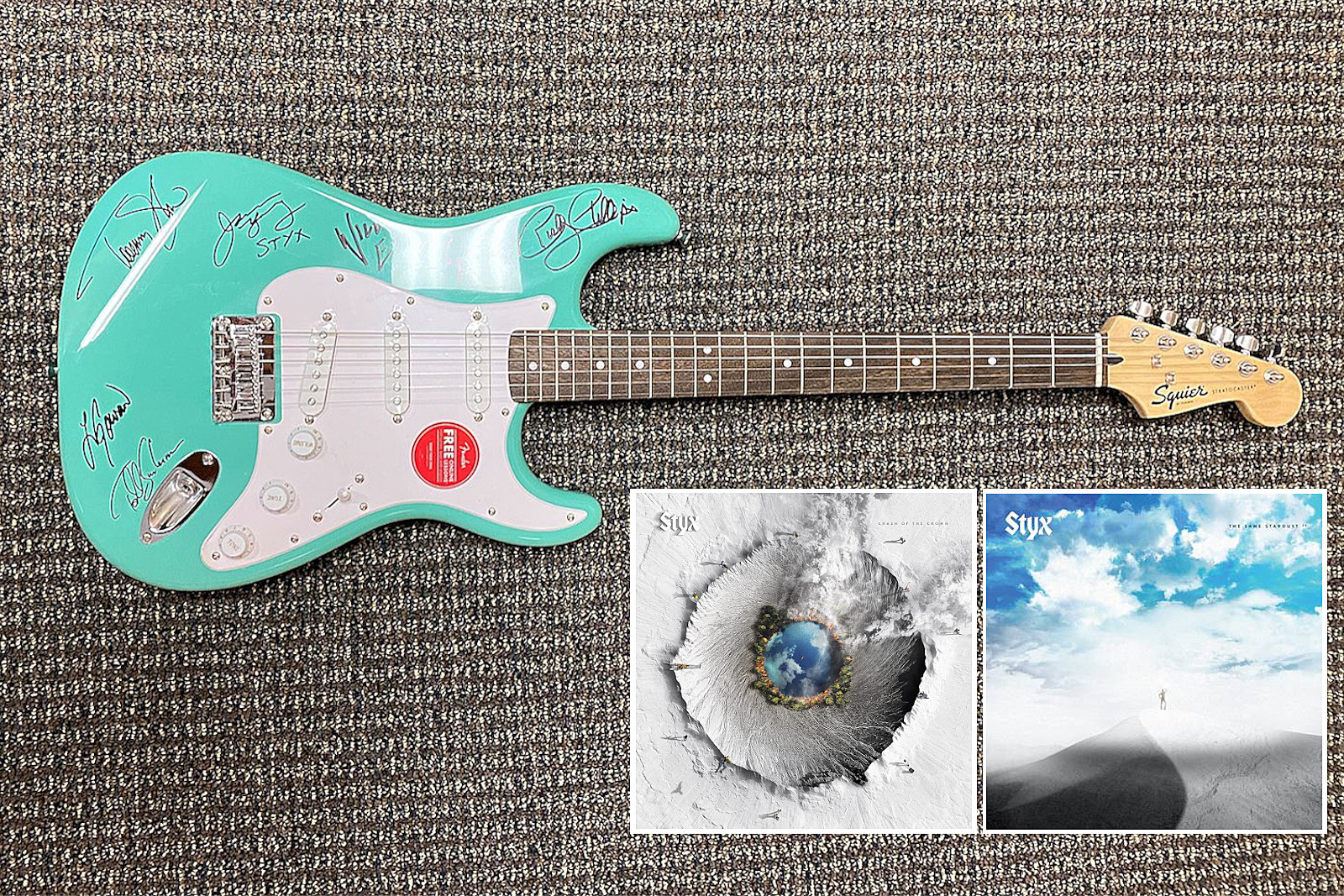 Win a Styx Signed Guitar and Prize Pack