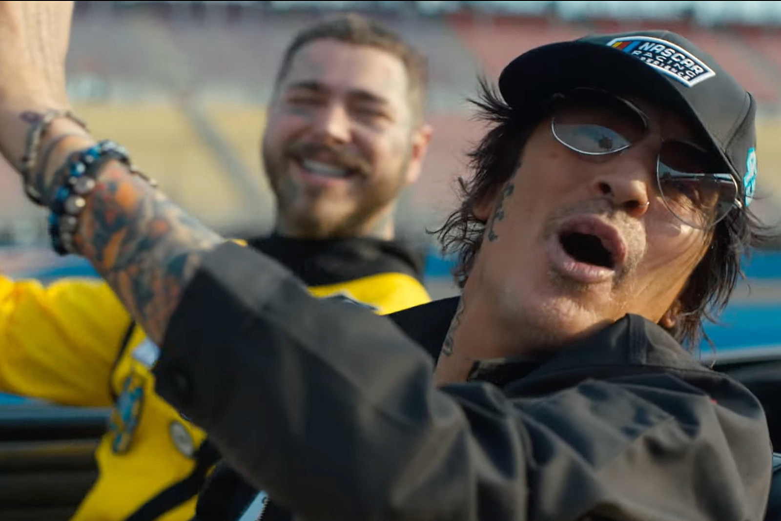 Tommy Lee Hits NASCAR Track in Post Malone's 'Motley Crew' Video