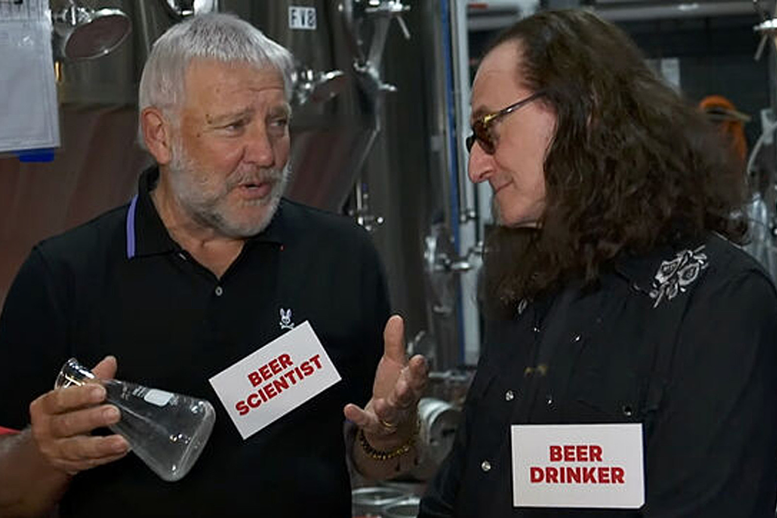 Geddy Lee and Alex Lifeson Hilariously Launch New Rush-Themed Ale