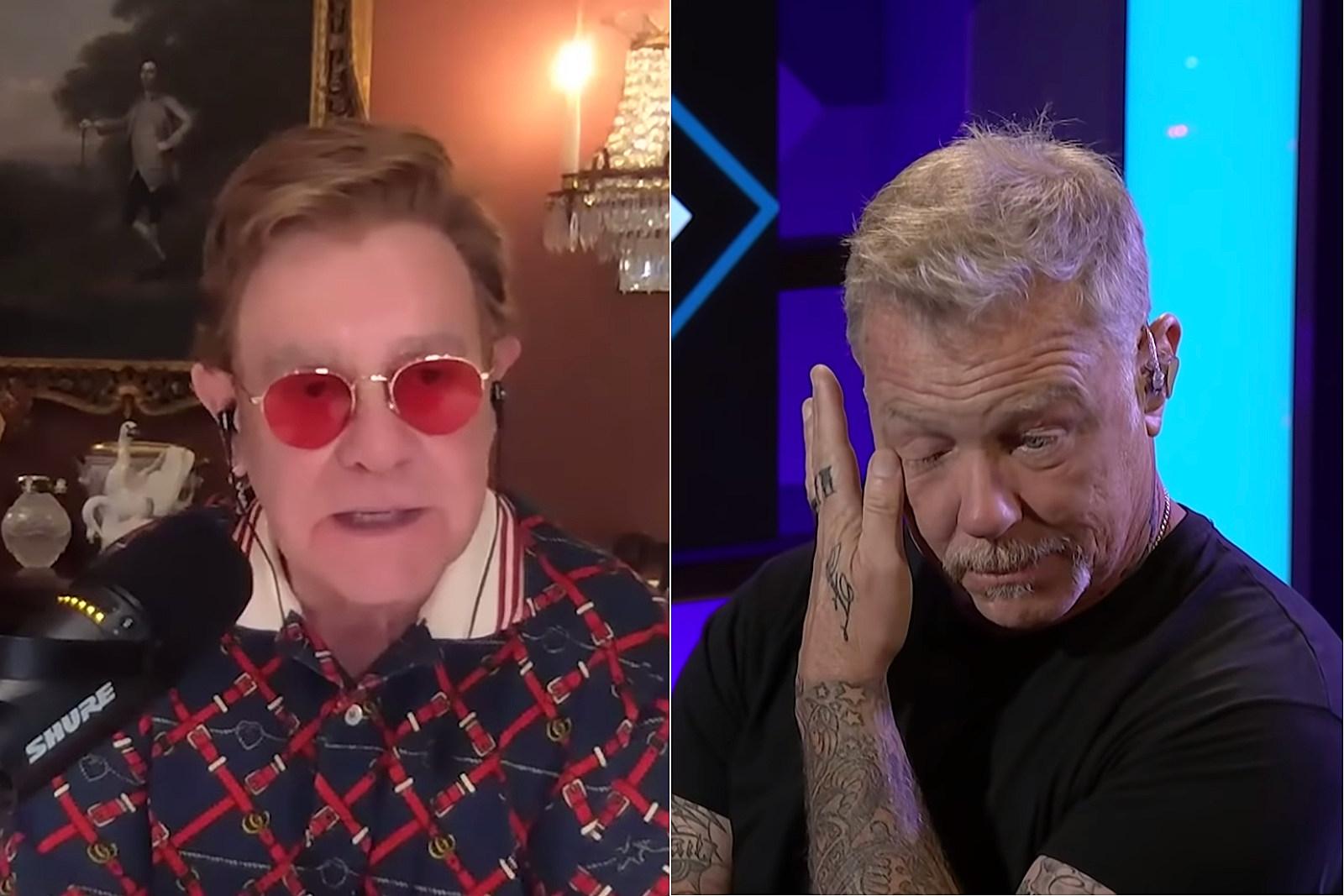 James Hetfield Moved to Tears by Elton John's Praise