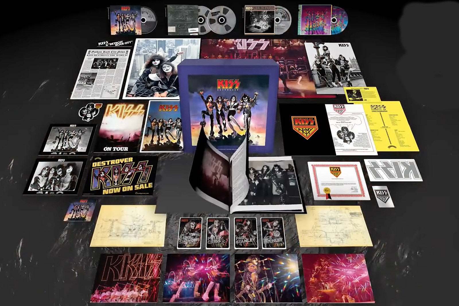 Kiss 'Destroyer' Box to Include Unreleased 1976 Paris Live Album