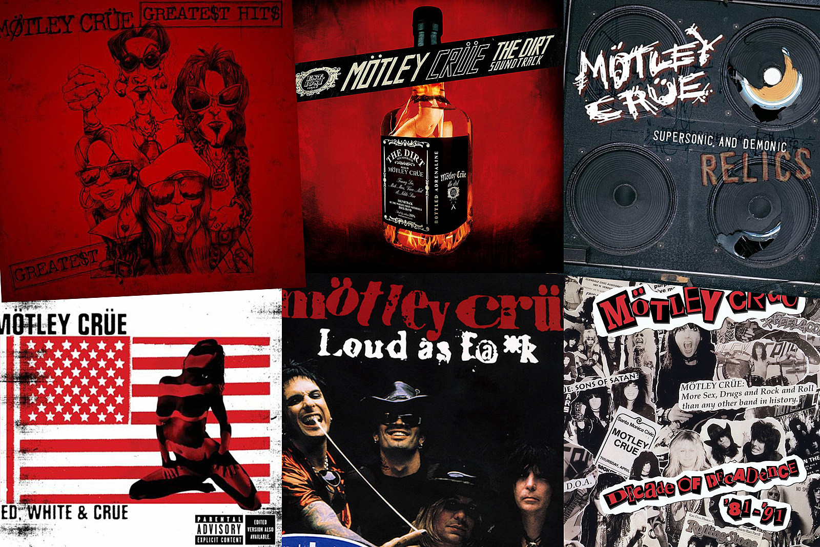 Motley Crue Greatest Hits Albums Ranked Worst to Best