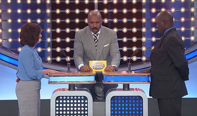 Family Feud Contestant Uses Double-D's To Distract Others