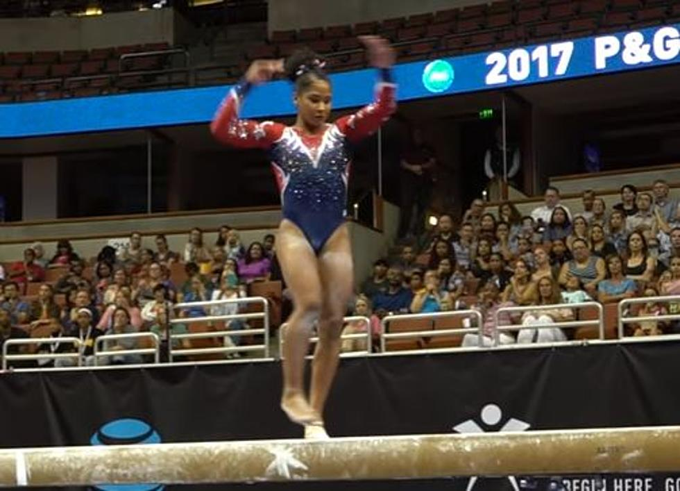 Gymnast Incredible Save Wows The Crowd [Video]
