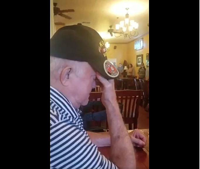 Restaurant Employees & Guests Sing Amazing Grace to Acadiana Man