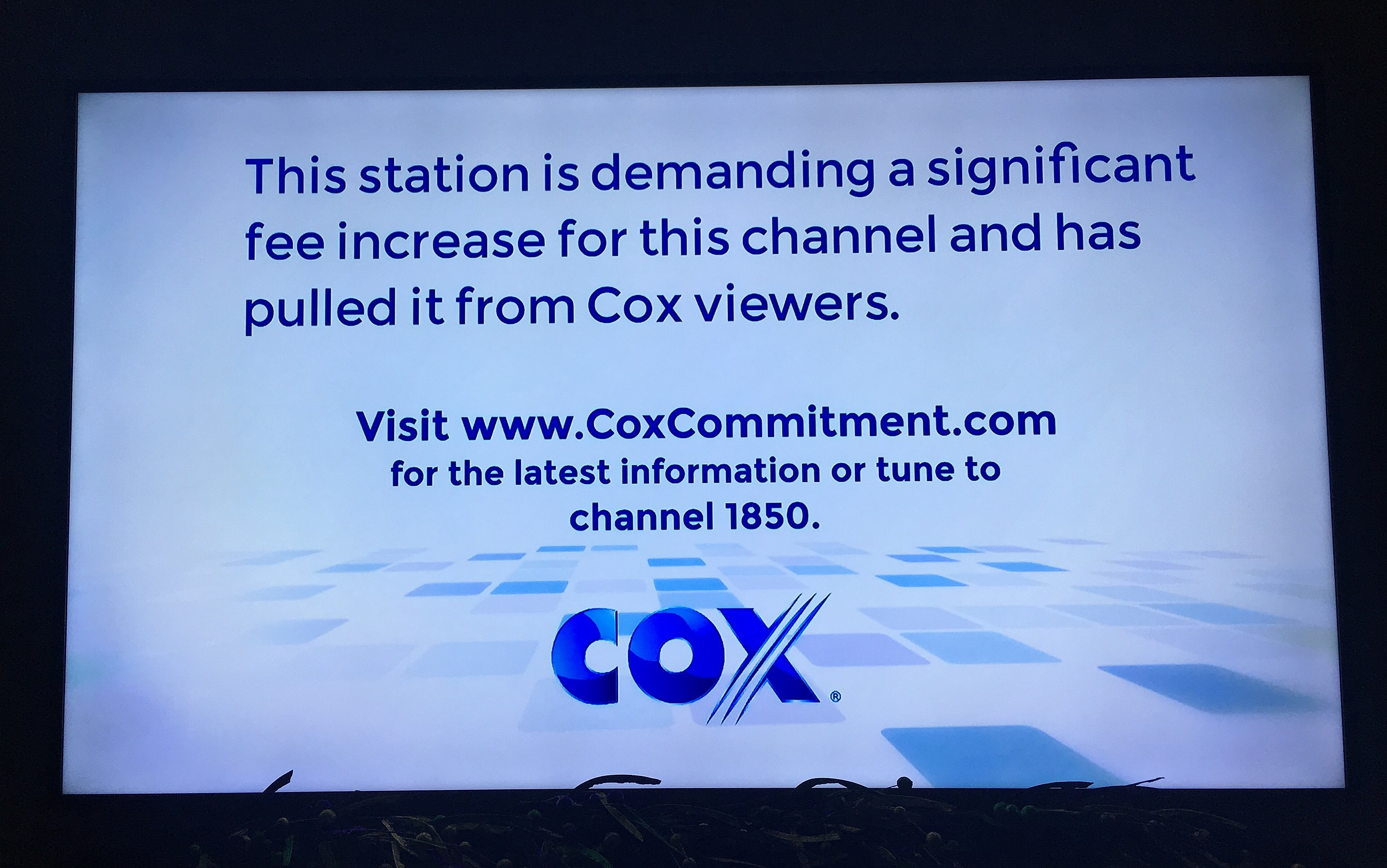 cox blocked internet access
