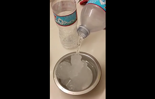 Bottled Water From Local Walmart And It Turns Into Gel