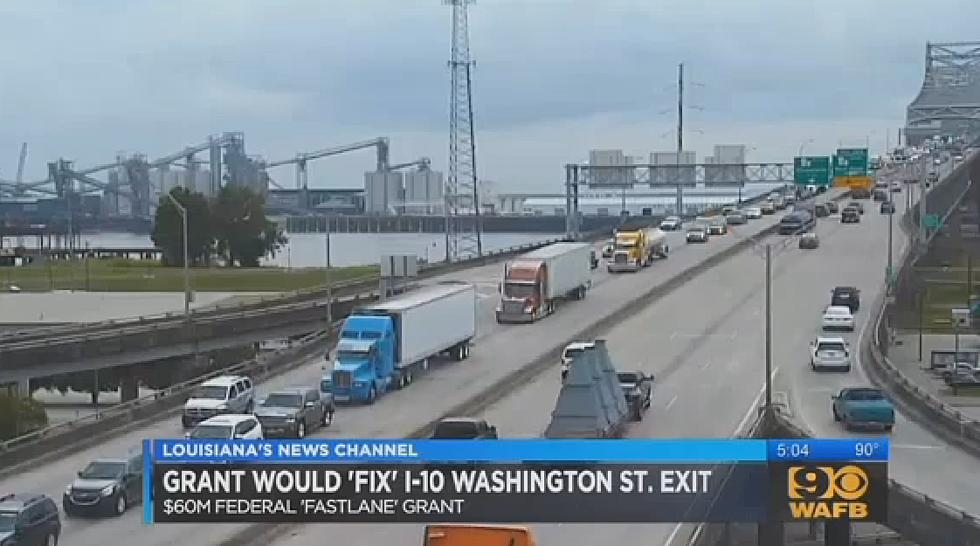 $60 Million Grant To Fix I-10 Bottleneck In Baton Rouge