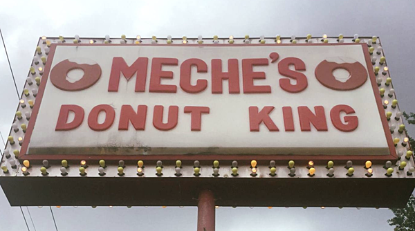 Message On Sign At Ricky Meche S Donut King Sparks
