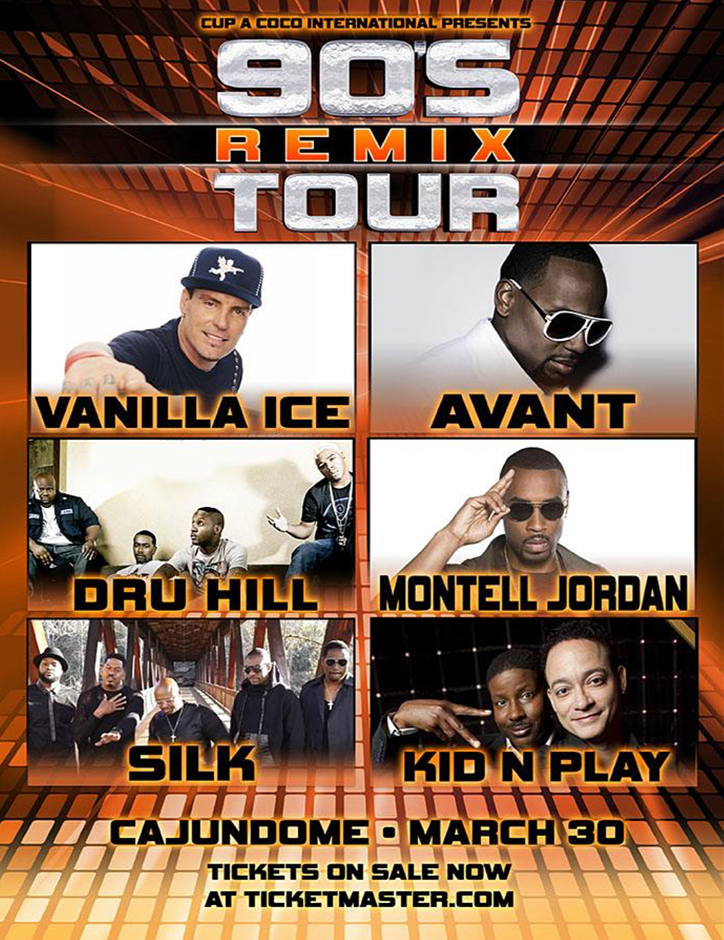 90's Remix Tour Coming To Lafayette CAJUNDOME