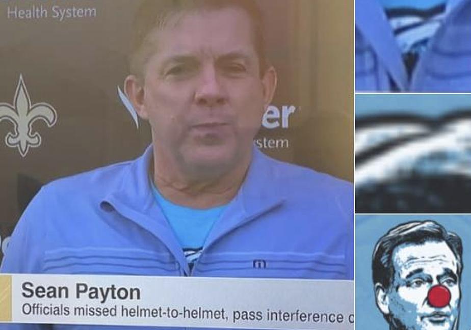 d01318ea7 Sean Payton Totally Wore A Goodell Clown Shirt To His Presser