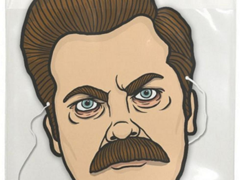 Be A Real Man With The Ron Swanson Halloween Mask Image