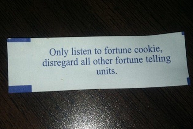 photograph relating to Printable Funny Fortune Cookie Sayings identify 13 Hilariously Bizarre Fortune Cookie Fortunes