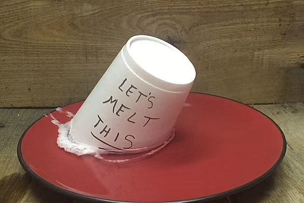 Nail Polish Remover Melts Styrofoam Cup With Creepy Ease