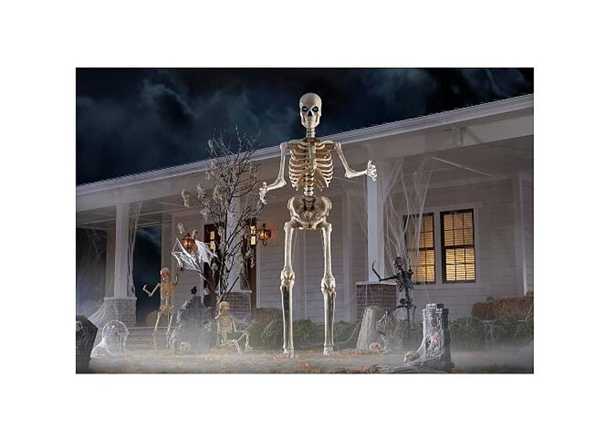 Home Depot S 12 Foot Skeleton Is Halloween 2020 S Biggest Hit