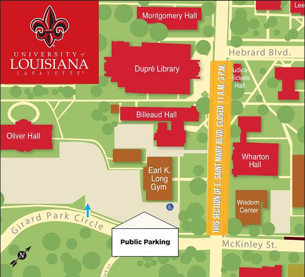ul lafayette campus map Road Closure Announced As Governor Edwards Heads To Ul Campus ul lafayette campus map