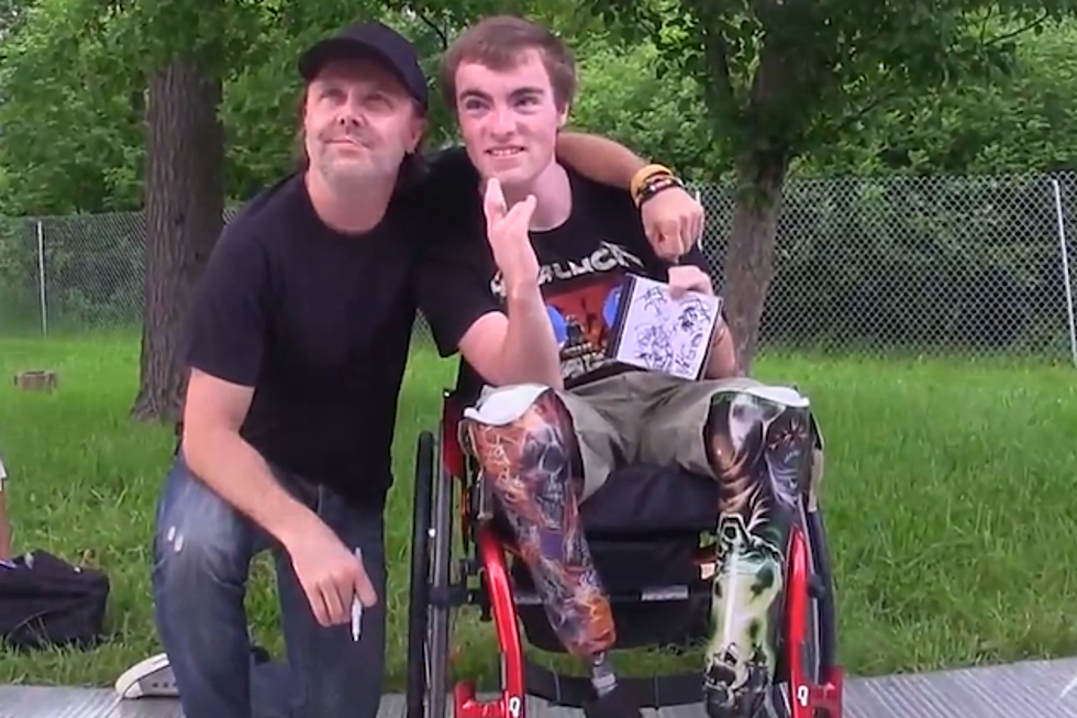 Metallica's Lars Ulrich Has Touching Meeting with Disabled