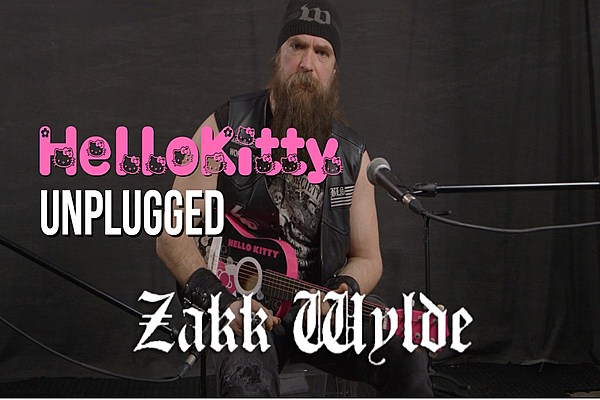 Zakk Wylde Jams Black Sabbath on a Hello Kitty Mini-Guitar