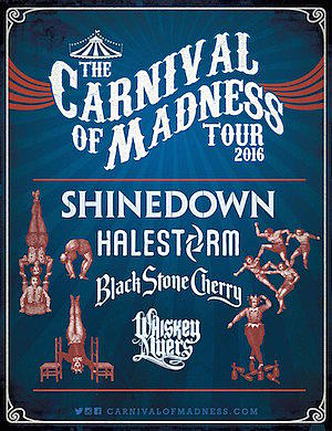 0421cabbb63c Shinedown To Headline 2016 Carnival of Madness