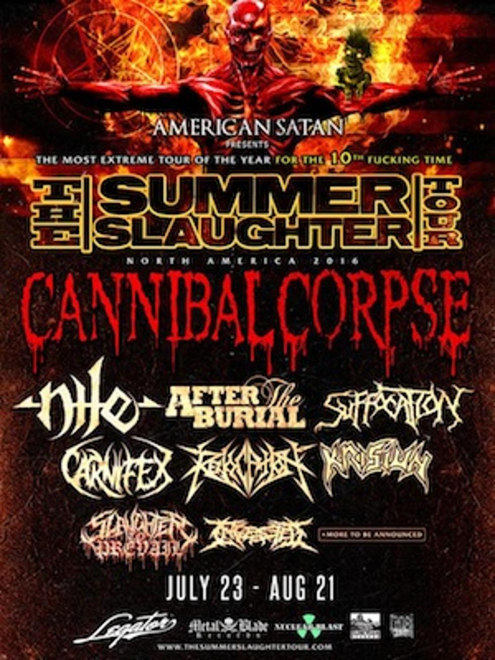 Summer Slaughter 2020.Cannibal Corpse Nile Lead 2016 Summer Slaughter Lineup