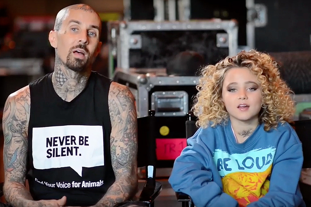 c632674af5ba Travis Barker + Daughter Alabama Take Part in PETA Campaign