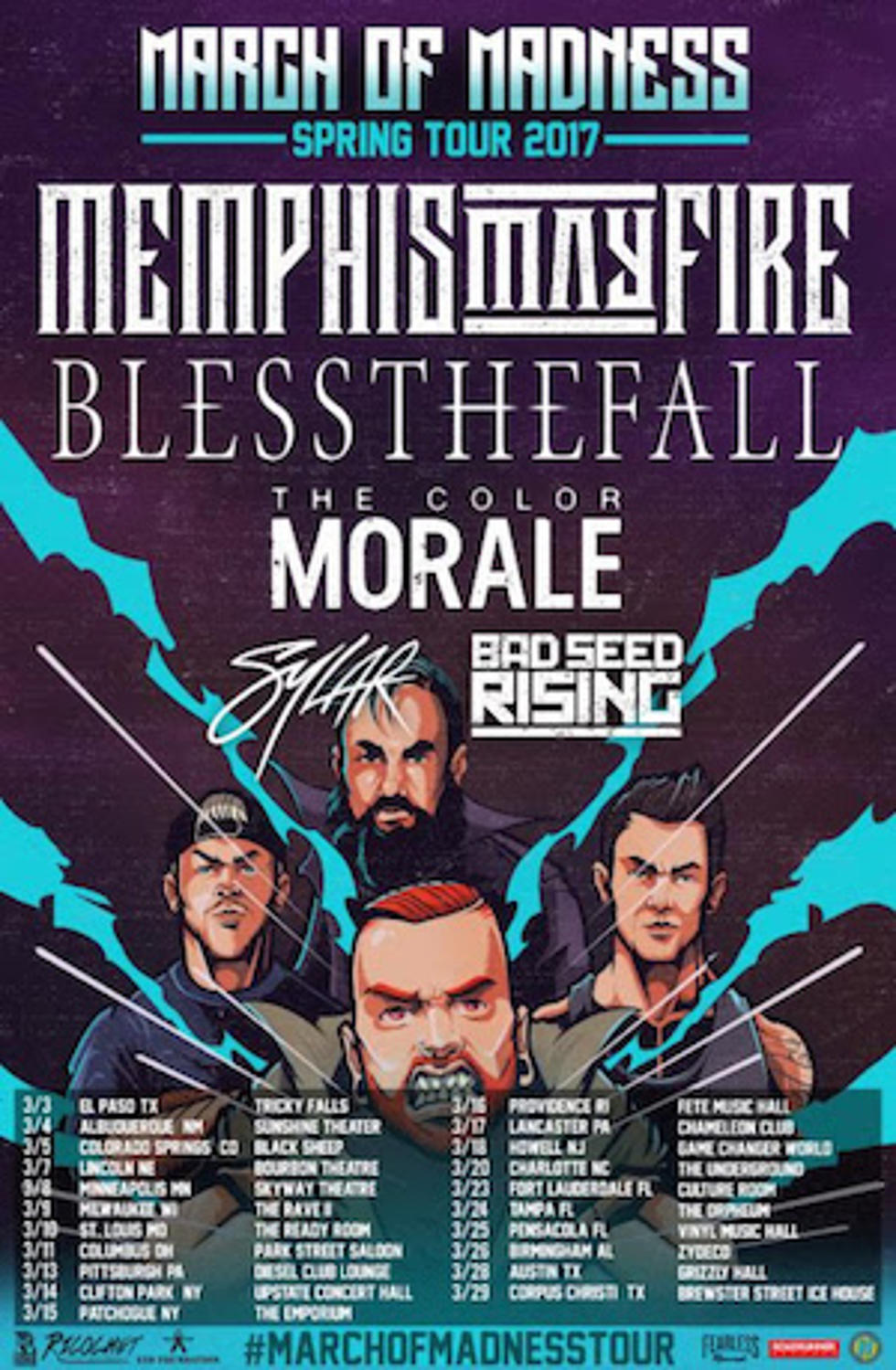 Memphis May Fire Announce Tour With Blessthefall + More