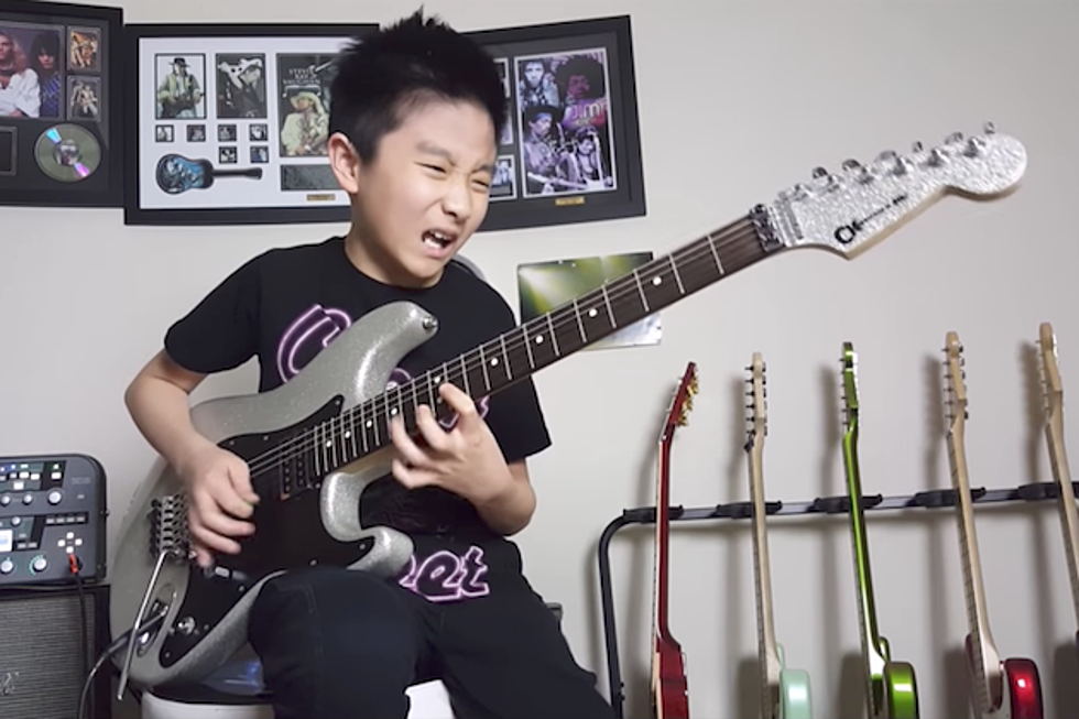 10-Year-Old Kid Shreds Away at Joe Satriani's 'Surfing With