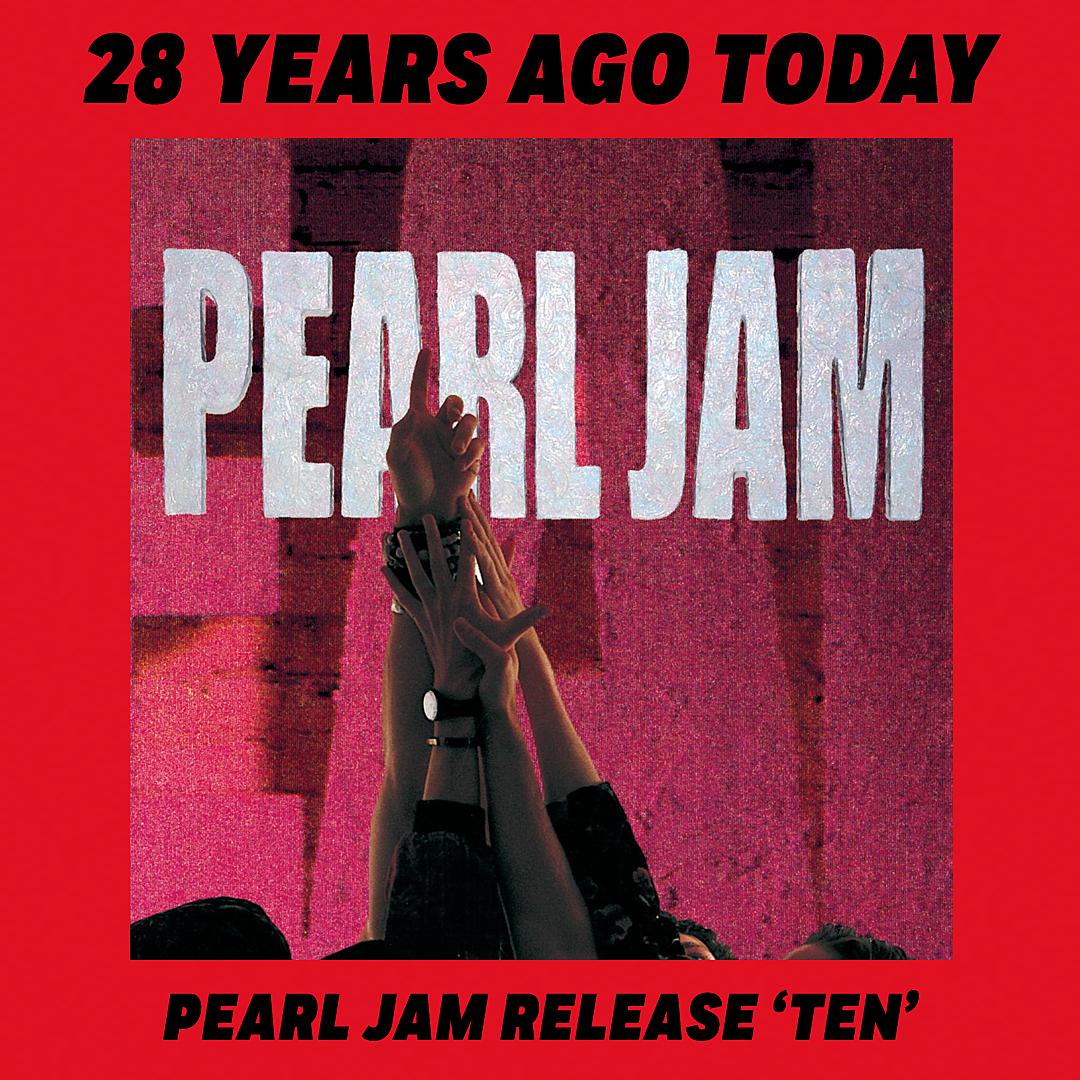 28 Years Ago: Pearl Jam Release Their Debut Album 'Ten'