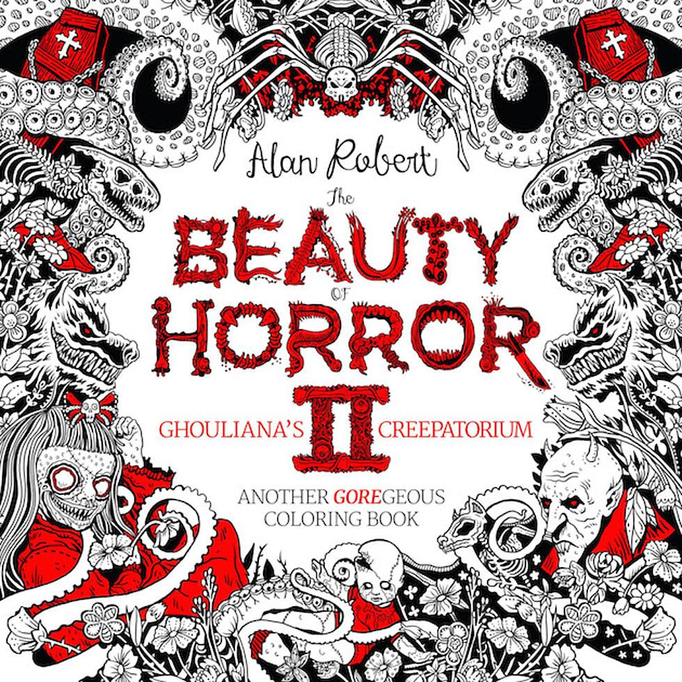 Alan Robert The Beauty Of Horror Ii Coloring Book