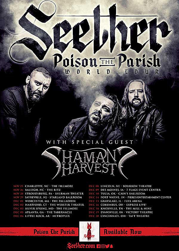 Seether Tour 2020.Seether Extend U S Tour With Fall 2017 Dates