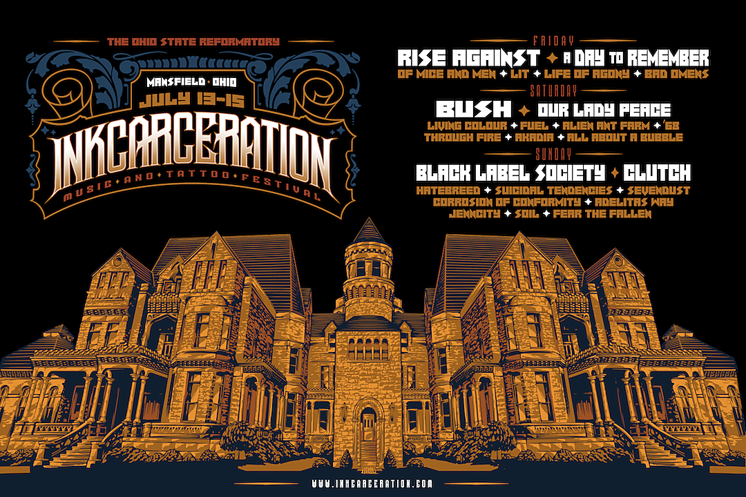 2019 Inkcarceration Festival Set Times Revealed