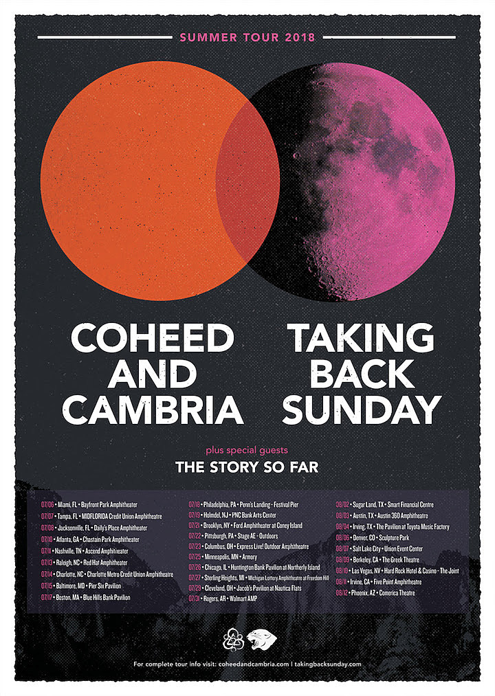 Coheed and Cambria + Taking Back Sunday Announce Summer Tour