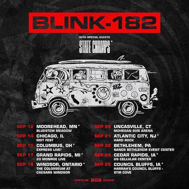 Blink-182 Returning to the Road for September 2018 Dates